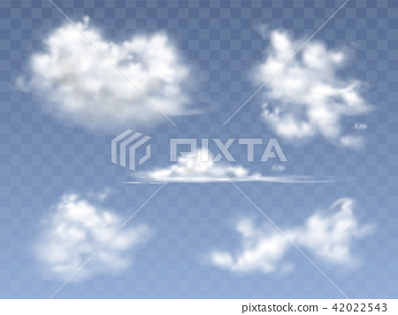 Set of vector realistic clouds 42022543