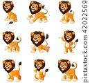 Vector illustration of  Lion cartoon 42022569