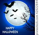 bat halloween moon 42022644