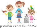 兒童寵物插圖 42022757