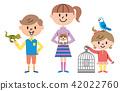 兒童寵物插圖 42022760