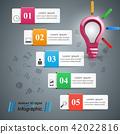 lightbulb, bulb, infographic 42022816