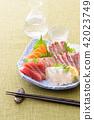 生魚片和白酒 42023749
