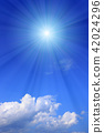 ท้องฟ้าเป็นสีฟ้า,แสงอาทิตย์,ท้องฟ้า 42024296