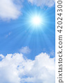 ท้องฟ้าเป็นสีฟ้า,แสงอาทิตย์,ท้องฟ้า 42024300