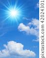 ท้องฟ้าเป็นสีฟ้า,แสงอาทิตย์,ท้องฟ้า 42024301