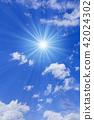 ท้องฟ้าเป็นสีฟ้า,แสงอาทิตย์,ท้องฟ้า 42024302