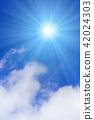 ท้องฟ้าเป็นสีฟ้า,แสงอาทิตย์,ท้องฟ้า 42024303