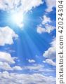ท้องฟ้าเป็นสีฟ้า,แสงอาทิตย์,ท้องฟ้า 42024304