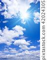 ท้องฟ้าเป็นสีฟ้า,แสงอาทิตย์,ท้องฟ้า 42024305