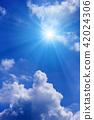 ท้องฟ้าเป็นสีฟ้า,แสงอาทิตย์,ท้องฟ้า 42024306