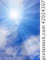 ท้องฟ้าเป็นสีฟ้า,แสงอาทิตย์,ท้องฟ้า 42024307