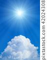 ท้องฟ้าเป็นสีฟ้า,แสงอาทิตย์,ท้องฟ้า 42024308