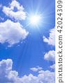 ท้องฟ้าเป็นสีฟ้า,แสงอาทิตย์,ท้องฟ้า 42024309