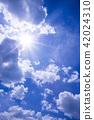 ท้องฟ้าเป็นสีฟ้า,แสงอาทิตย์,ท้องฟ้า 42024310