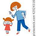 父母身份 父母和小孩 母子 42024316