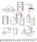 set of cartoon illustration of milk powder 42024427