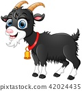 Illustration of Cute black goat cartoon 42024435