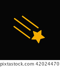 Falling star vector  icon 42024470