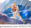 pole vault, jump, track and field events 42025376