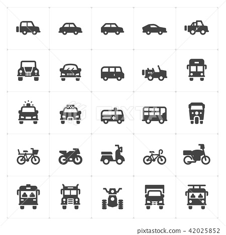 vehicle and transport filled icon style 42025852