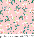 Pink Lily on Pink Background 42027627