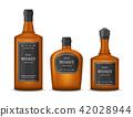 Realistic Detailed 3d Whiskey Bottles Set. Vector 42028944