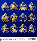 Gold zodiac signs 42030904