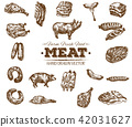 meat, food, drawn 42031627