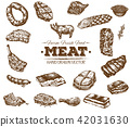 meat, food, drawn 42031630