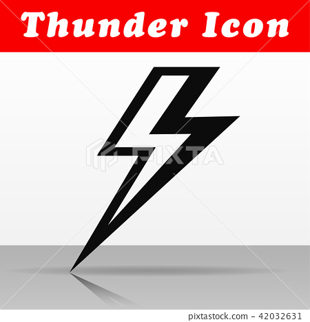 black thunder vector icon design stock illustration 42032631 pixta pixta