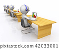 Call center with 3D figures 42033001