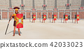 Centurion and legionaries in the colosseum 42033023