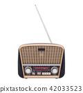 Old radio isolated on white 42033523