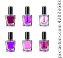 Nail polish bottles on white background vector illustration 42033683