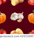 Seamless pattern with vegetables. 42033685