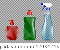 Set of packaging with detergent for cleaning 42034245
