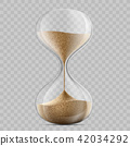 sandglass on a transparent background 42034292