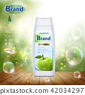bottle with hair shampoo 42034297