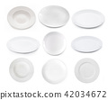 empty plate isolated on white background 42034672