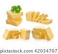 butter on white background 42034707
