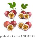 Passion fruit on white background 42034733