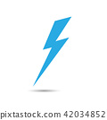 Lightning flat icons.  Simple icon storm 42034852