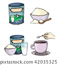 powder, milk, cartoon 42035325