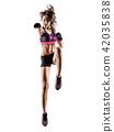 cardio boxing cross core workout fitness exercise aerobics woman 42035838