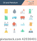 Oil and Petroleum icons. Flat design collection 14 42036401