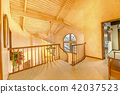 Bright, open and warm indoor balcony with vaulted 42037523