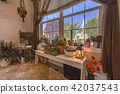Cactus garten in the entry of Utah home 42037543
