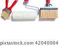 House painter, work tools on a white background 42040004