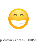 Isolated yellow smiling emoji face icon 42040059
